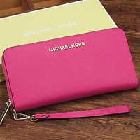 Michael Kors Women Fashion Leather Zipper Wallet Purse