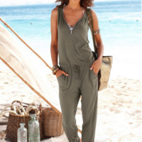 Women 'S Zipper Sexy Jumpsuits