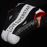 ADIDAS clover superstar shell deconstruction edition 2020 Valentine's Day limited edition couple black red