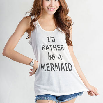 The little mermaid Shirt Tumblr Funny Tank Top Workout Tanks for gym Mermaid Top Womens Muscle Tee Shirt Racerback Fitness Cute Hipster Swag