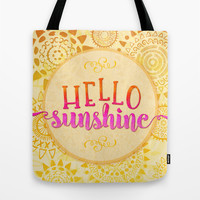 Hello Sunshine Tote Bag by Noonday Design