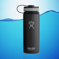 Hydro Flask 18 Oz Wide Mouth Insulated Water Bottle Black