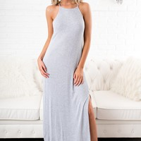 From Day One Basic Dress (Heather Grey)