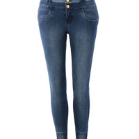 LE3NO Women Super Soft High Waisted Denim Jeggings with Stretch (CLEARANCE)