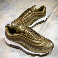 Nike Air Max 97 Metal Gold Sport Running Shoes - Best Online Sale