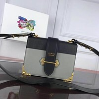 prada women leather shoulder bags satchel tote bag handbag shopping leather tote crossbody satchel shouder bag 24