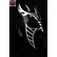 HYSTERIA BLACK SILVER Lycra Mexican Wrestling Lucha Libre Mask Halloween Mask Costume - Mr. Maskman