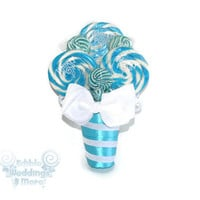 Light Blue Lollipop Bouquet, Lollipop Bouquet, Candy Bouquet. Wedding, Bouquet, Candy, Lollipop, Bridesmaid, Bridal Party, Blue