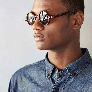 Brown Round Sunglasses- Brown One