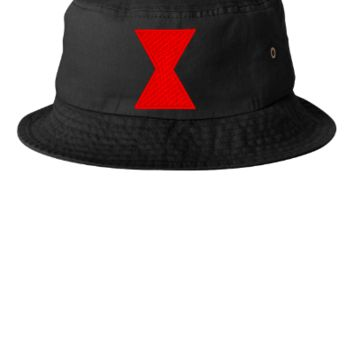 Black Widow embroidery hat - Bucket Hat