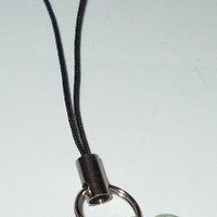 Lucky Cell Phone Charm with 4 Leaf Clover and Evil Eye