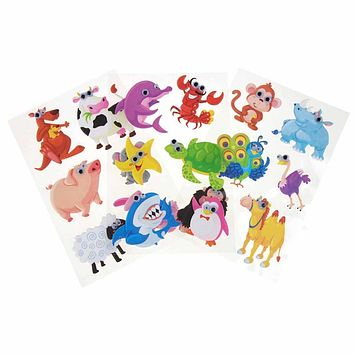 Assorted Animals Googly Eyes Soft-Touch Stickers, 2-Inch, 3-Packs