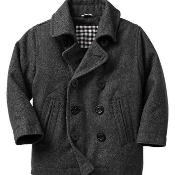 Gap Baby Factory Wool Peacoat