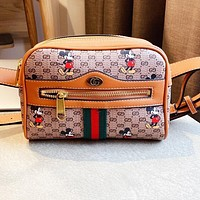Gucci Mickey Belt Bag GG Marmont Classic Bag Brown