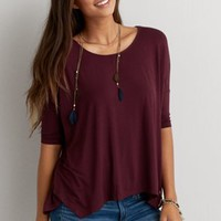 AEO Soft & Sexy Jegging T-Shirt , Dark Maple | American Eagle Outfitters