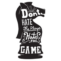 Hate the Game Character-Type Wall Decal