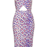 Pastel Leopard Cut Out Dress - New In This Week  - New In