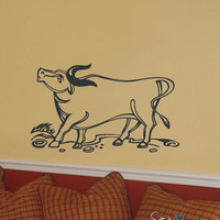 Vinyl Wall Decal Sticker Cow #599
