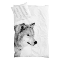 BY NORD Wolf Junior Single Bed Duvet and Pillow Cover Set