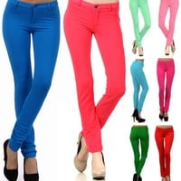 New Colorful Skinny Jeans Sexy Jeggings Stretchy Slim Cotton Spandex Pants