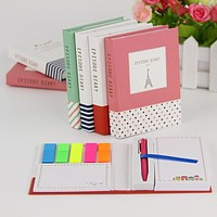 1 PC Creative Hardcover Sticky Notes