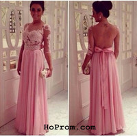 Long Sleeve Prom Dress Lace Prom Dress Long Sleeve Lace Evening Dress