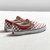 Vans Slip-On Checkerboard Faded Rose Sneaker | Urban Outfitters