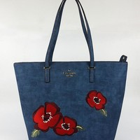 New Arrival Kate Spade Fashion Women Blue Flower Style Handbag