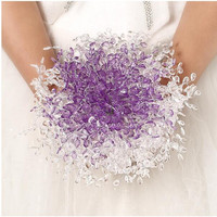 2015 High Quality Wedding Hand Bouquets Bridal Bouquets Bling Bling Crystal Bouquet De Mariage Ramos De Novias Broche Boeket