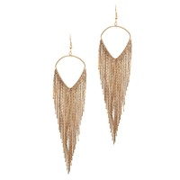 Anouk Metallic Gold Fringe Earrings