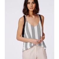 Missguided - Monochrome Stripe T Bar Cami Top