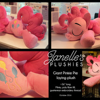 "36"" version of my normal sleeping Pinkie Pie plush... - Janelle's Plushies"