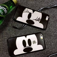 Hot Sale Stylish Cute Hot Deal Iphone 6/6s On Sale Couple Cartoons Iphone Apple Silicone Transparent Phone Case [6281933702]