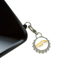 Wedding Rings - Love Romance Mobile Bottlecap Phone Charm