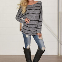 Magnetic Personality Dolman Top - Black