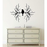 Wall Stickers Vinyl Decal Bird on Branch Tree Nature Excellent Decor Unique Gift (ig763)