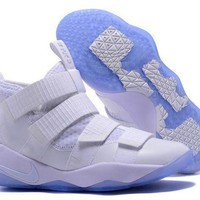 DC-CK Nike LeBron Soldier 11 EP White Basketball Shoes US7-12