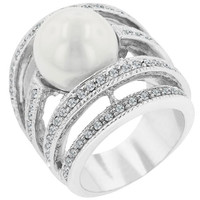 Right-hand Pearl Ring, size : 07