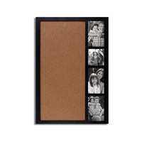 4-Opening Collage Picture Frame with Bulletin Board