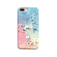 Fashion Colorful Cream Case For iPhone 6 Newest Abstract frosted Hard PC Phone Cases For iPhone6S 7 7 Plus Back Cover Coque -04410