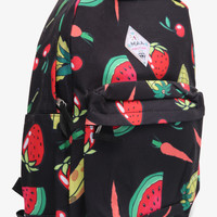 Backpack With Fruits Design In Black