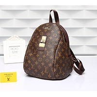Louis Vuitton LV Fashion Woman Men Monogram Leather Bookbag Shoulder Bag Backpack I-MYJSY-BB