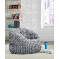 Cocoon Rosette Faux Fur Bean Bag Chair - Walmart.com