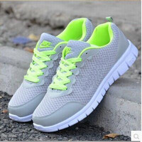 mRetail &  NEW Leisure Breathable men Mesh gray shoes Leisure Sport shoes  Running shoes eu size 36-44 #j