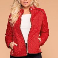 Adalynn Red Quilted Jacket
