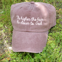 Higher The Hair Hat - Faded Plum*