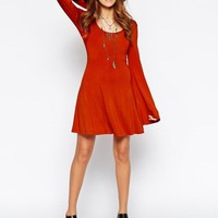 ASOS Skater Dress with Scooped Neck and Flared Sleeves
