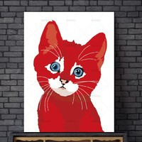 Canvas Painting Wall art Picture decor poster canvas painting Wall art art prints on cartoon animal Picture home decor no frame