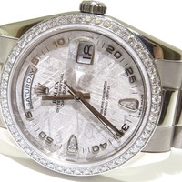 Rolex White Gold Day Date - Meteorite Diamond Dial / Bezel - 118239 BOX & PAPERS