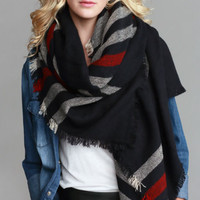 Infinited Love Plaid Scarf